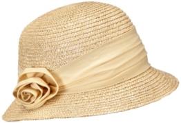 Seeberger Damen Sonnenhut Damenstrohhut, Einfarbig, Gr. Medium, Beige (leinen 93) -