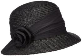 Seeberger Damen Sonnenhut Damenstrohhut, Einfarbig, Gr. Medium, Schwarz (schwarz 10) -