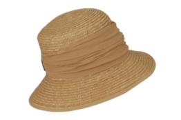 Seeberger Damen Sonnenhut Damenstrohhut, Einfarbig, Gr. One size, Beige (sand 94) -