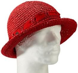 Seeberger Damen Sonnenhut, Einfarbig, Gr. Medium, Rot (rubin 21) -