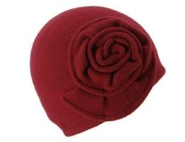 Seeberger Damen Strickmütze Serie Siebers Rot (Vino 22), One size (Herstellergröße: one size) -