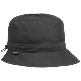 Seeberger Gore-Tex Outdoorhut Regenhut Hut Fischerhut Anglerhut mit Fleecefutter UV-Schutz Stoffhut Outdoorhut (58 cm - schwarz) -