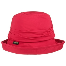 Seeberger Gore-Tex Regenhut mit Futter Fischerhut UV-Schutz Hut Outdoorhut mit Fleecefutter Stoffhut Outdoorhut (58 cm - rot) -