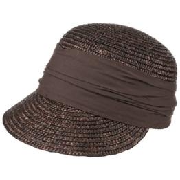Seeberger Grace Stroh Sonnencap Strohkappen Damencap (One Size - dunkelbraun) -