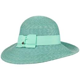 Seeberger Lieske Strohhut mit UV-Schutz Hut Sonnenhut Sommerhut Damenhut Strohhut Sonnenhut (One Size - mint) -