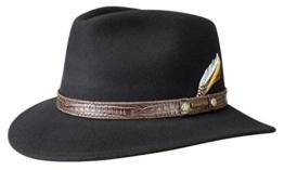 Sells Westernhut Stetson Krokoband Filzhut (L/58-59 - schwarz) -