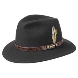 Sells Westernhut Stetson Krokoband Filzhut (XL/60-61 - schwarz) -