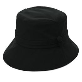 SIGGI Baumwolle Damen Sonnenhüte Sonnen Shade mit Kinnriemen faltbarer SPF 50 + schwarz -