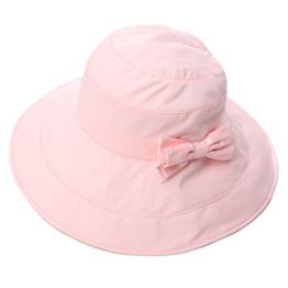 SIGGI Damen faltbarer Sonnenhut Fischerhute mit Sonnen Shade Schleife SPF 50 + rosa -