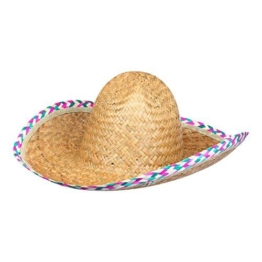 S/O Sombrero Strohhut Mexico Bast Hut Stroh Hut Hawaii Party -