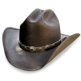 STARS & STRIPES Herren Cowboyhut schwarz schwarz Gr. Medium, schwarz -