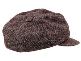 Sterkowski Gemütlich Tweed Zeitungsjunge Schiebermütze Vintage Stil 56 cm Braun melange -