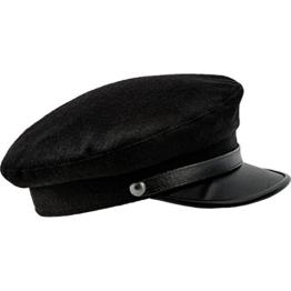 Sterkowski Kaschubei Handelsflotte Offizier Schirmmütze Schiffermütze 62 cm Schwarz -