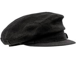 Sterkowski Leinen Sommermütze Schiebermütze Breton Stil 65 cm Schwarz -