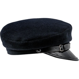 "Sterkowski Wolle ""Maciejówka"" Schirmmütze mit Lackiert Shirm 55 cm Dunkelblau -"