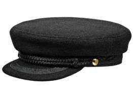 Sterkowski Wolle Segeln Skipper Seemann Schirmmütze 58 cm Schwarz -