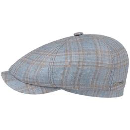 Stetson 6-Panel Virgin Wool Silk Cap Schirmmütze Sommercap Sonnencap Sommermütze Herrencap Cap Kappe Schiebermütze Schirmmütze (58 cm - hellblau) -