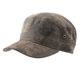 Stetson - Armycap Herren Raymore Pig Skin - cuir-62 -