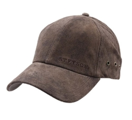 Stetson - Baseballcap Herren RawLeinengs Pig Skin - cuir-62 -