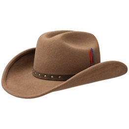 Stetson Batson Cattleman Hut Wollhut Cowboyhut (M/56-57 - dunkelbeige) -
