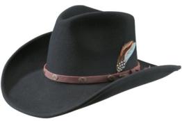 Stetson Belton Cowboyhut Western Filzhut VitaFELT - schwarz XL/60-61 -