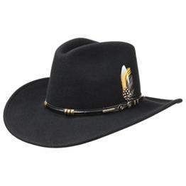 Stetson Buffalo Cowboy Westernhut Herbst Allwetterhut (XL/60-61 - schwarz) -