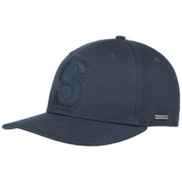 Stetson Capital S Cotton Baseballcap Baumwollcap Cap Basecap Sonnencap mit UV-Schutz Cap Basecap (One Size - dunkelblau) -