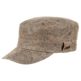 Stetson Ephrata Army Cap Vintageleder Ledermütze (S/54-55 - braun) -