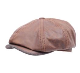 Stetson - Flatcap Herren Hatteras Goatskin - Size S - marron -
