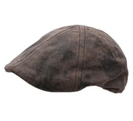 Stetson - Flatcap Herren Texas PigSkin - Size L - peau-62 -