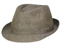 Stetson Geneva Trilby Hut Stoffhut mit UV-Schutz aus Leinen - grau/51 54 -