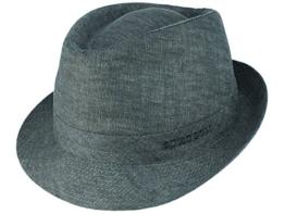 Stetson Geneva Trilby Leinenhut mit UV-Schutz - grau/3 55 -