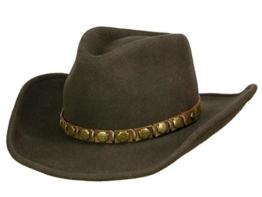 Stetson Hackberry braun Western Cowboyhut Filzhut - braun, Braun, S -