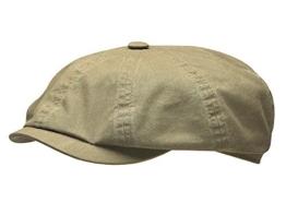 Stetson Hatteras Cap Delave Organic Cotton - khaki M/56-57 -
