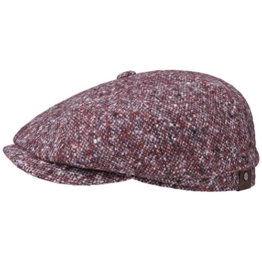 Stetson Hatteras Donegal Schirmmütze Flatcap Ballonmütze Tweedcap Tweed Caps (61 cm - bordeaux) -