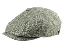 Stetson Hatteras Seide Ballonmütze Schirmmütze aus Seide - grau/330 56 -