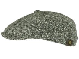 Stetson Hatteras Tweed Ballonmütze Schirmmütze Schurwolle - braun/463 60 -