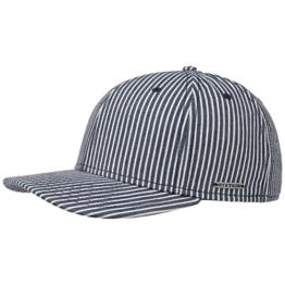 Stetson Hickory Stripe Baseball Cap Basecap Kappe Schirmcap Baumwollcap Sommercap Sonnencap Sommercap Baseballcap (One Size - blau) -