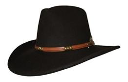 Stetson Hut Bufallo Braun Knautschhut Cowboyhut mit braunem Hutband, Größe:S -