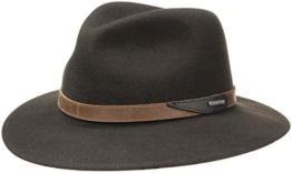 Stetson Hut Filzhut Hampton Outdoorhut Herrenhut (M/56-57 - braun) -