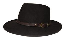 Stetson Hut Sanger Braun wasserabweisend mit braunem Hutband , Größe:S -