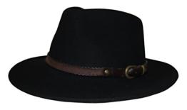 Stetson Hut Sanger schwarz mit braunem Hutband wasserabweisend, Größe:XL -