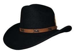 Stetson Hut Victorville schwarz mit braunem Lederhutband, Größe:S -