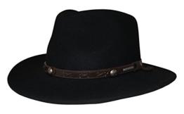 Stetson in Schwarz Hut Vail Knautschhut mit braunem Hutband, Größe:XXL -