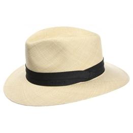 Stetson Jefferson Panama Hut Fedora Strohhut - beige 59 -