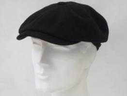 Stetson Kappe schwarz Wolle Herrenmütze Flatcap (56) -