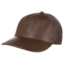 Stetson Lombard Kuhfell Braun Leder Verstellbare Baseball Cap -