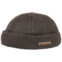 Stetson Old Cotton Dockermütze Dockercap Herrenmütze Baumwollmütze Hafenmütze Mütze (S/54-55 - braun) -