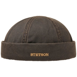 Stetson Old Cotton Winter Dockermütze Dockercap Mütze mit Fleecefutter Wintermütze Mütze Wintermütze (XL/60-61 - braun) -