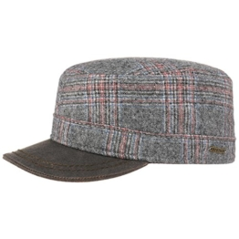 Stetson Orland Flex Armycap Army Cap Mütze Armymütze Urban Military Kappe Wollcap Fitted Wollcap Fullcap (S/54-55 - grau) -